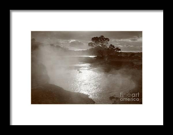 Furnas Framed Print featuring the photograph Furnas Hotsprings by Gaspar Avila