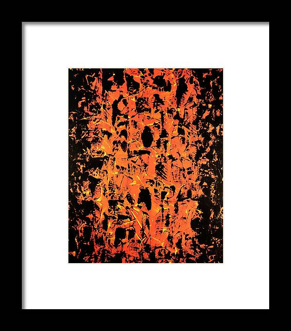 Fury Framed Print featuring the painting Fury by Anthony Sanchez