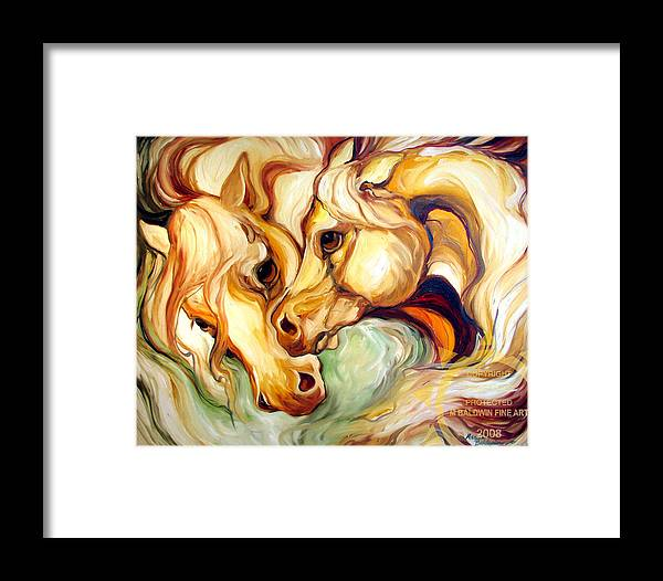 Horse Framed Print featuring the painting Fury by Marcia Baldwin