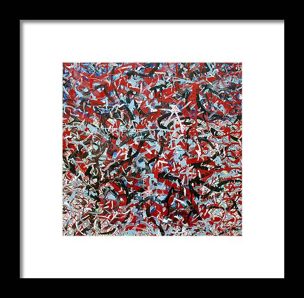 Color And Activity Framed Print featuring the painting Fury Numero 1 by Biagio Civale