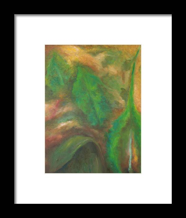 Organic Framed Print featuring the painting Fusion by Lou Ewers