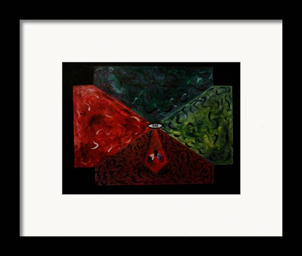 Geometric Art Framed Print featuring the painting Future Doors by Guillermo Mason