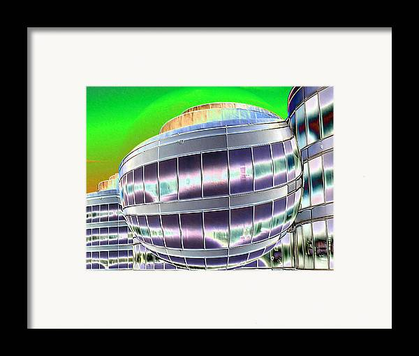 Digital Art Framed Print featuring the photograph Future Office Space by Carol Groenen
