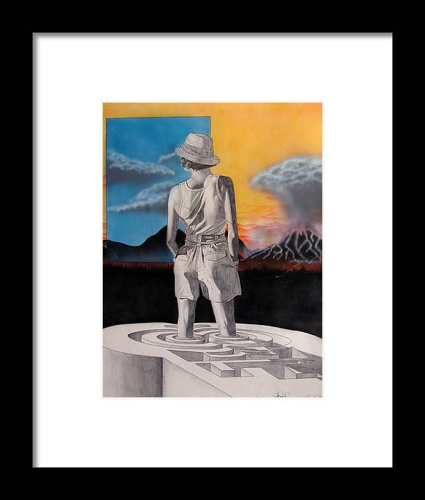 Shaun Framed Print featuring the painting Future by Shaun McNicholas