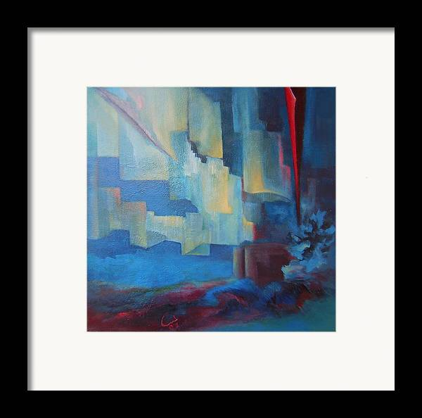 Framed Print featuring the painting Future Time by Lamis Dachwali