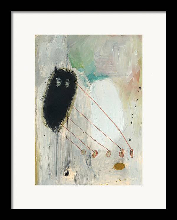 Action Framed Print featuring the painting Fuzzy Feeding by F Michael Wells