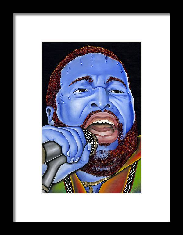 Portrait Framed Print featuring the painting G. Levert by Nannette Harris