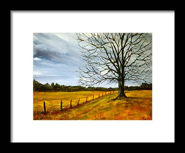 Treescape Framed Print featuring the painting Ga Winter by Pete Maier