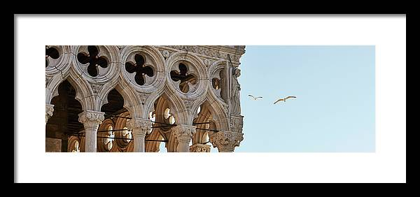 Venice Framed Print featuring the photograph Gabbiani Ducale 4379 by Marco Missiaja