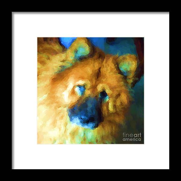 Chow Framed Print featuring the digital art Gabby by Kathi Shotwell