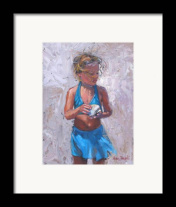 Young Girl Framed Print featuring the painting Gabby by Laura Lee Zanghetti