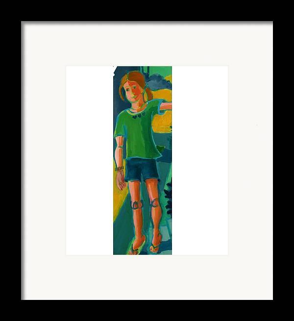 Portrait Framed Print featuring the painting Gabrielle by Debra Bretton Robinson