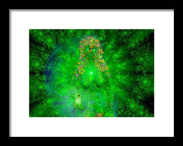 Gaia Framed Print featuring the painting Gaia by Robby Donaghey