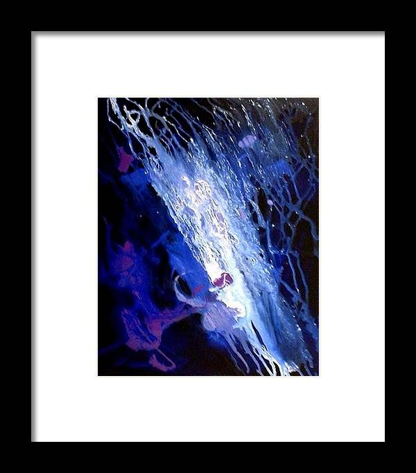 Colorful Framed Print featuring the painting Galaxy Abstract4of4 by Teo Alfonso