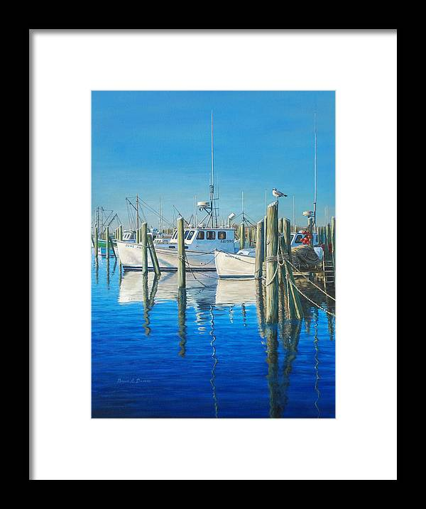 Marine Art Framed Print featuring the painting Galilee by Bruce Dumas