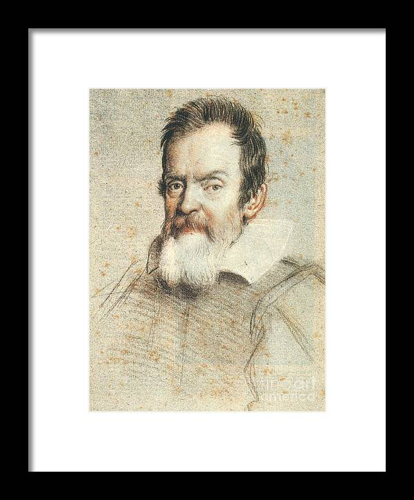 1624 Framed Print featuring the photograph Galileo Galilei by Granger