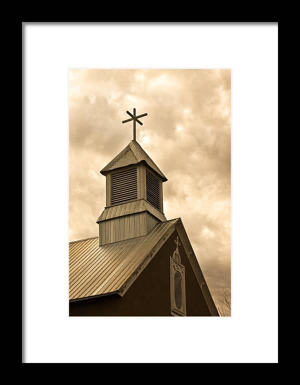 Galisteo Framed Print featuring the photograph Galisteo Church, New Mexico by Catherine Sobredo