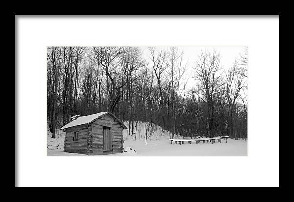 Galland School Framed Print featuring the photograph Galland School Outside Of Montrose Iowa by Goldie Pierce