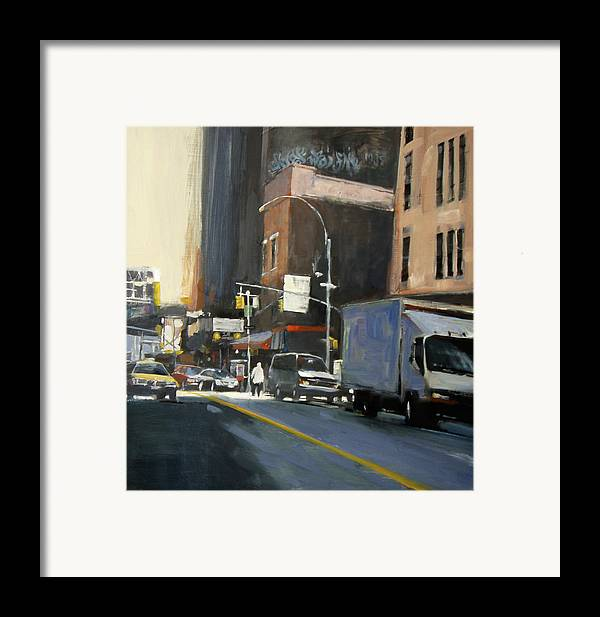 New York City Framed Print featuring the painting Gallery District by Patti Mollica