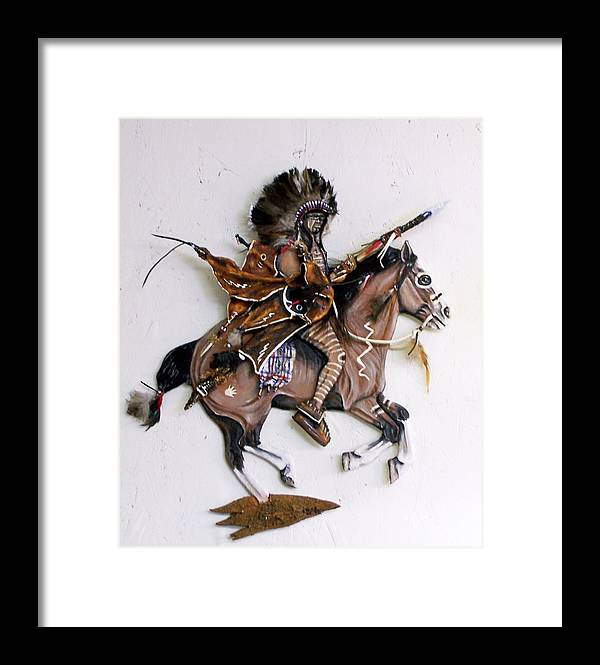 Horses Framed Print featuring the painting Galloping Along by Lilly King