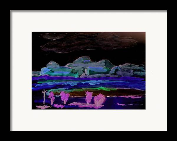 Kevin Callahan Framed Print featuring the painting Gallup New Mexico by Kevin Callahan