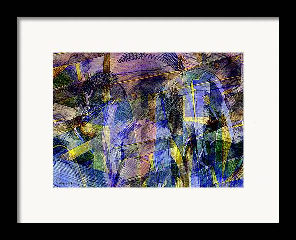 Photopainting Framed Print featuring the digital art Galveston Garden by Helga Schmitt