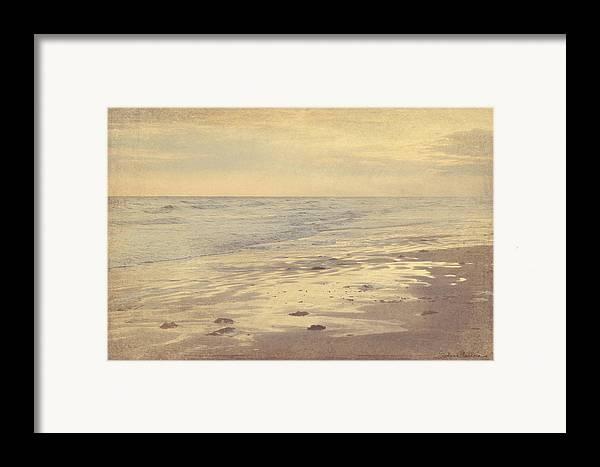 Galveston Island Seascape Framed Print featuring the photograph Galveston Island Sunset Seascape Photo by Svetlana Novikova