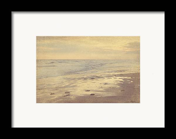 Galveston Island Seascape Framed Print featuring the photograph Galveston Island Sunset Seascape Photo by Svetlana Novikova