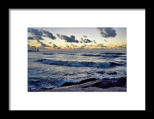 Galveston Framed Print featuring the photograph Galveston Tx 328 by Lawrence Hess
