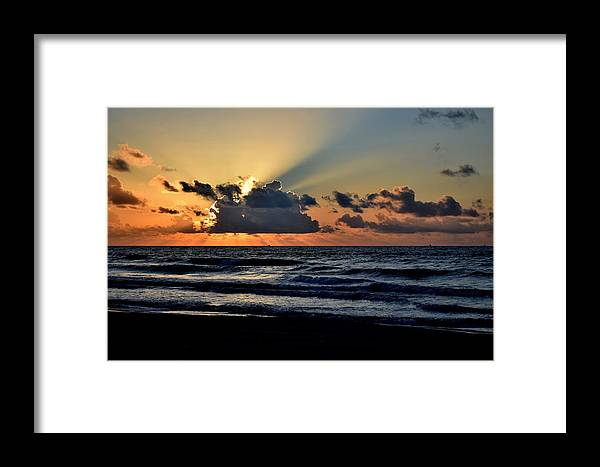 Galveston Framed Print featuring the photograph Galveston Tx 337 by Lawrence Hess