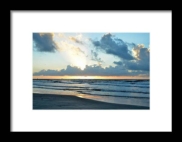 Galveston Framed Print featuring the photograph Galveston Tx 360 by Lawrence Hess
