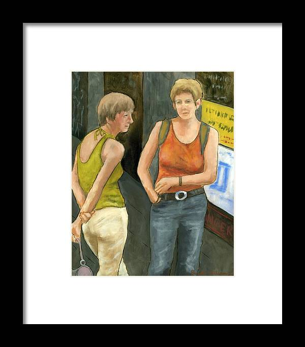 Figurative Framed Print featuring the painting Galway Afternoon by Brenda Williams