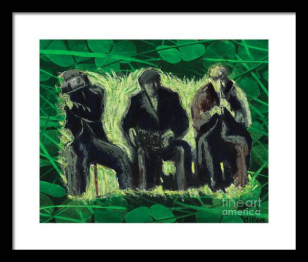 Ireland Framed Print featuring the painting Galway Pipeband by Richard W Dillon