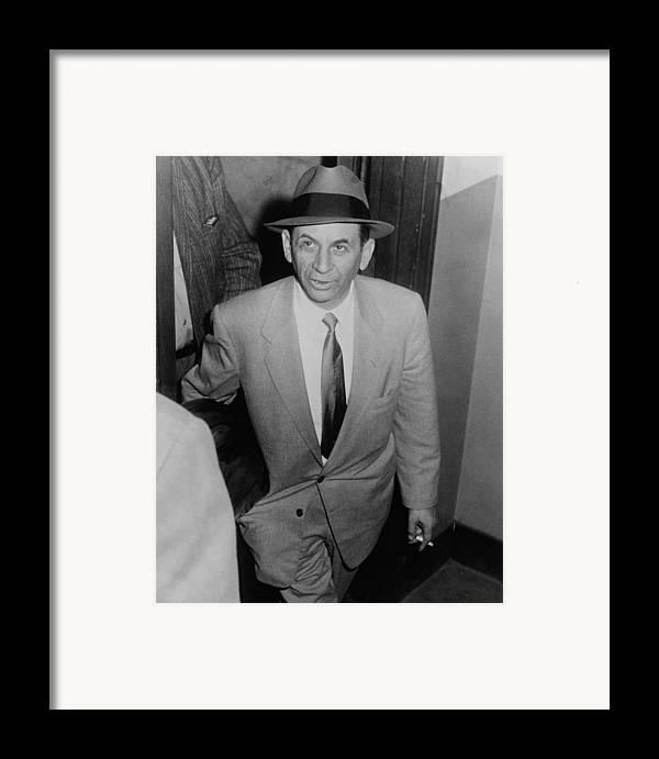History Framed Print featuring the photograph Gambling Boss Meyer Lansky 1902-1983 by Everett