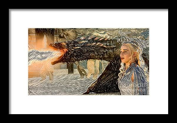 Game Of Thrones Original Oil Painting Saving Mom Painting Poster Canvas Great Gi Framed Print