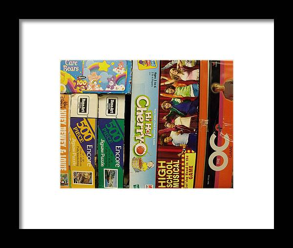 Games Framed Print featuring the photograph Game Shelf II by Anna Villarreal Garbis