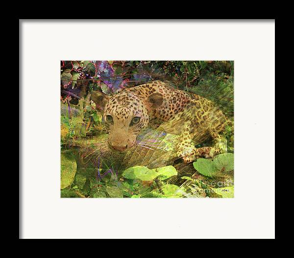 Game Spotting Framed Print featuring the digital art Game Spotting by John Beck
