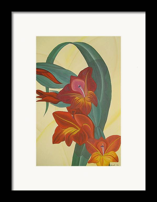 Marinella Owens Framed Print featuring the painting Gandavensis Hybrid by Marinella Owens