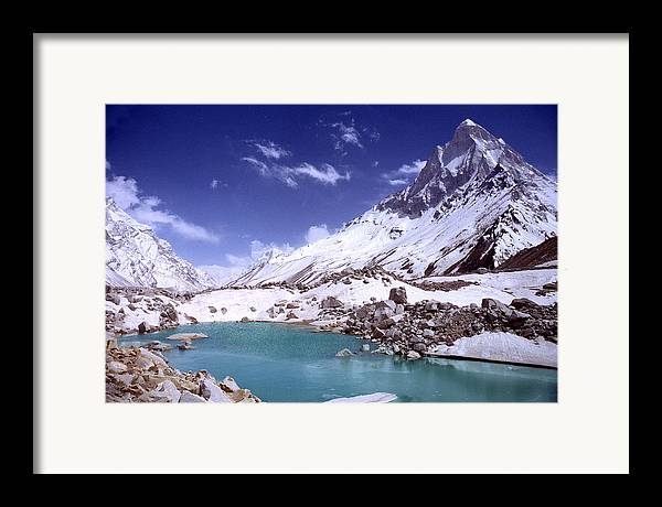 Landscape Framed Print featuring the photograph Gandharva Tal And Mount Shivaling by Sam Oppenheim