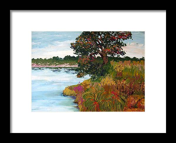 Art Nomad Framed Print featuring the painting Ganges Tree by Art Nomad Sandra Hansen