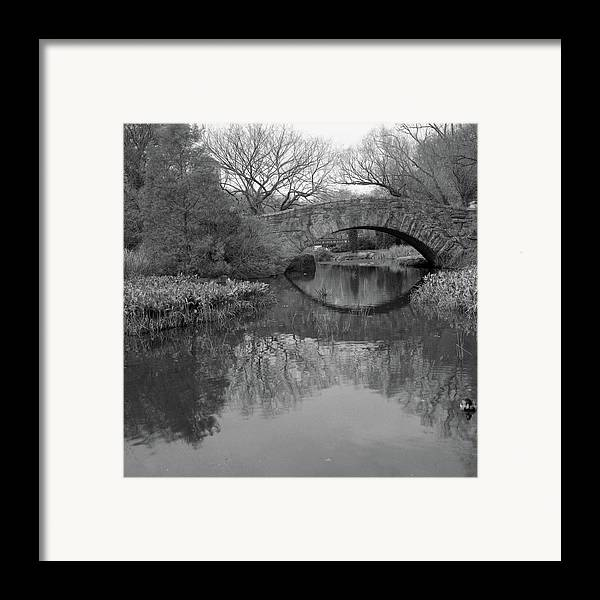 Square Framed Print featuring the photograph Gapstow Bridge - Central Park - New York City by Holden Richards