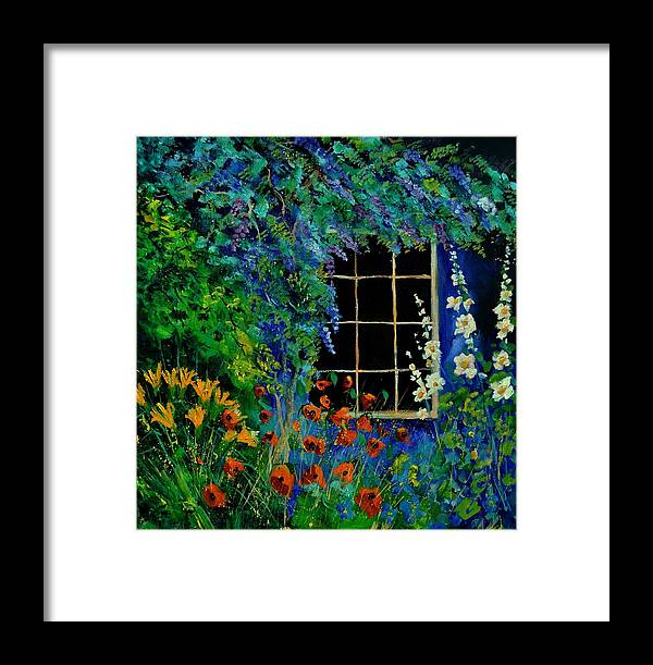 Flowers Framed Print featuring the painting Garden 88 by Pol Ledent