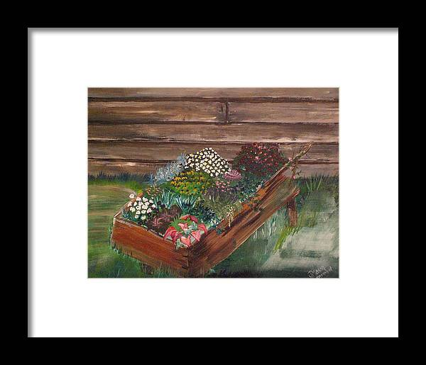 Garden Framed Print featuring the painting Garden Box by Jessica Mason