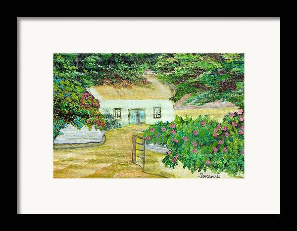 Garden Framed Print featuring the painting Garden by Cary Singewald