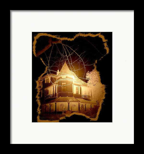 New Orleans Framed Print featuring the photograph Garden District Glowing by Linda Kish