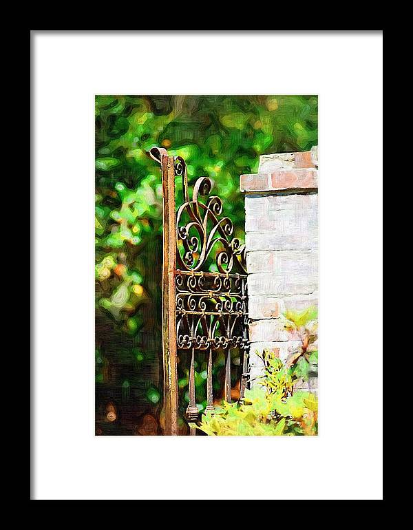 Gardens Framed Print featuring the photograph Garden Gate by Donna Bentley