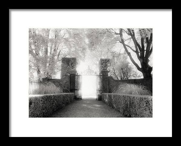 Garden Framed Print featuring the photograph Garden Gate by Michael Hudson