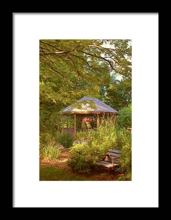 Garden Framed Print featuring the photograph Garden Gazebo by Jim Darnall