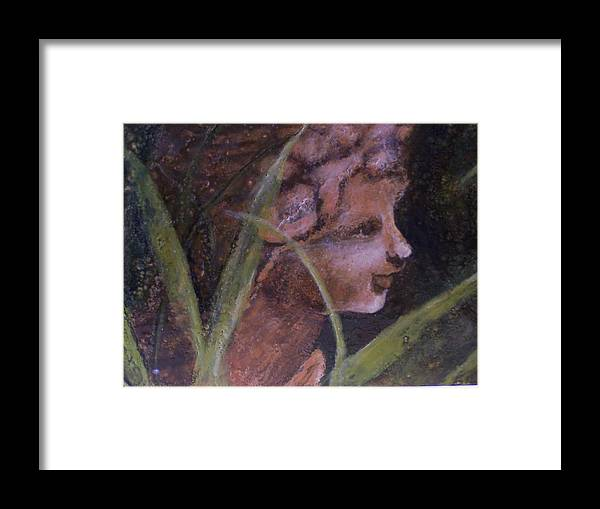 Child Framed Print featuring the painting Garden Nymph by Karla Phlypo-Price