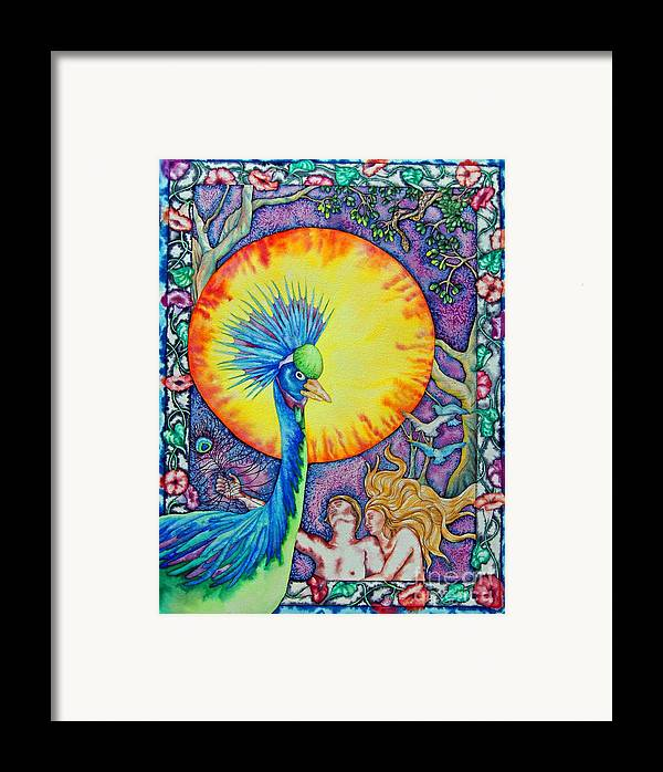 Peacock Framed Print featuring the painting Garden Of Eden by Gail Zavala